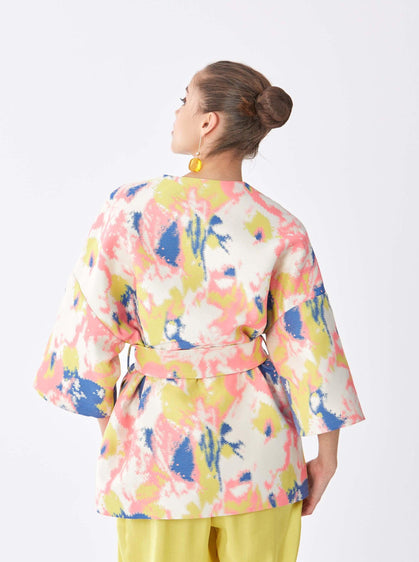 Watercolor Print Coat