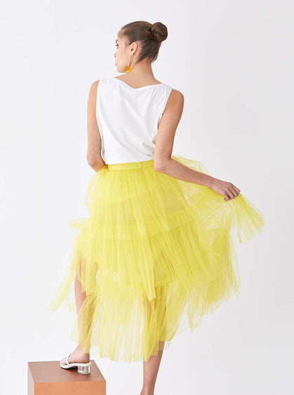 Lemon Tiered Tutu Skirt