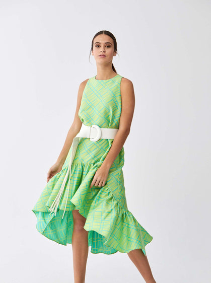 ROMAN USA-Hi-Low Lime Mermaid Dress-- [ORIGINAL]