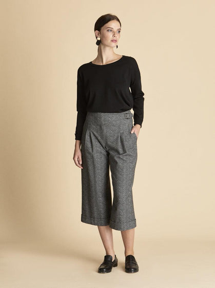 ROMAN USA-PLEATED CROPPED PANT-- [ORIGINAL]