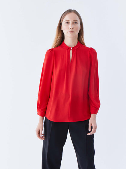 ROMAN USA-K2113043 BLOUSE-- [RED]
