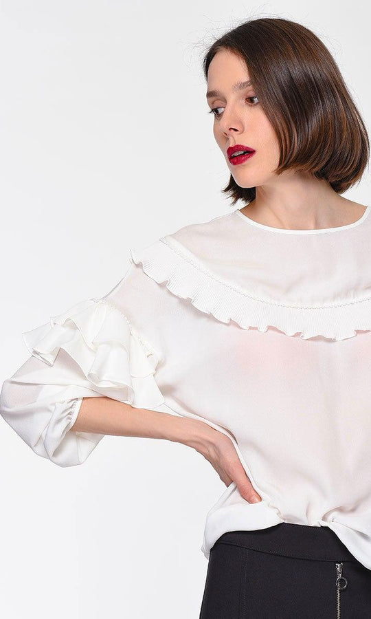RUFFLE DETAILED BLOUSE