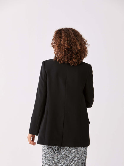 Single Breasted Notched Longline Blazer
