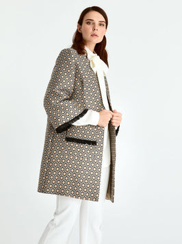 Geometric Pattern Coat