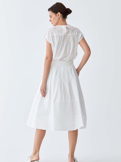 White Cotton Tea Skirt