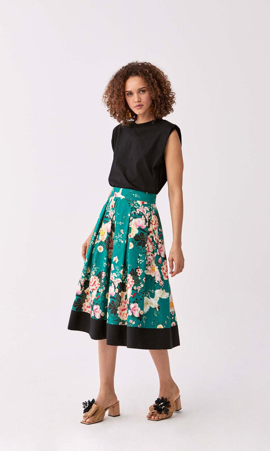Teal Blossom Tea Skirt