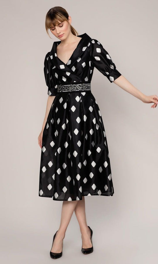 Puff Sleeve A-Line Dress