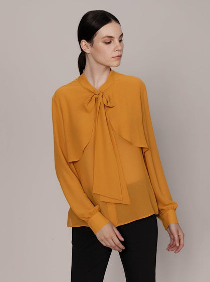 RIBBON DETAIL STATEMENT BLOUSE