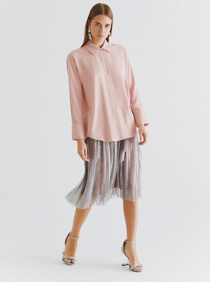 Classic Powder Pink Button Down