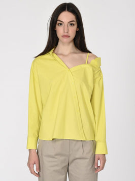 SHOULDER DETAILED COTTON SHIRT