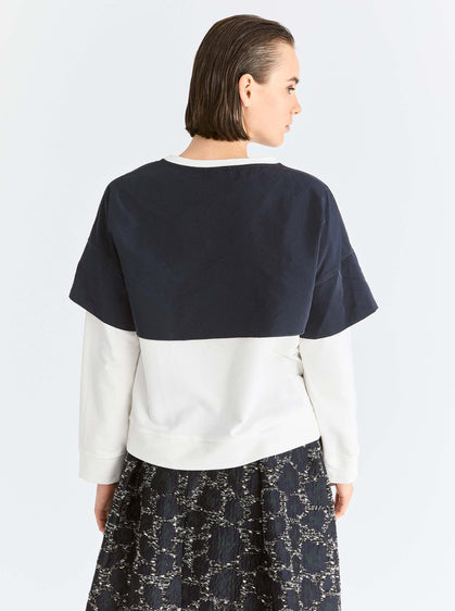 Color Block Panel Sweatshirt