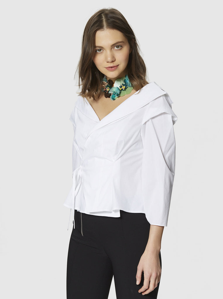WRAP COTTON TOP