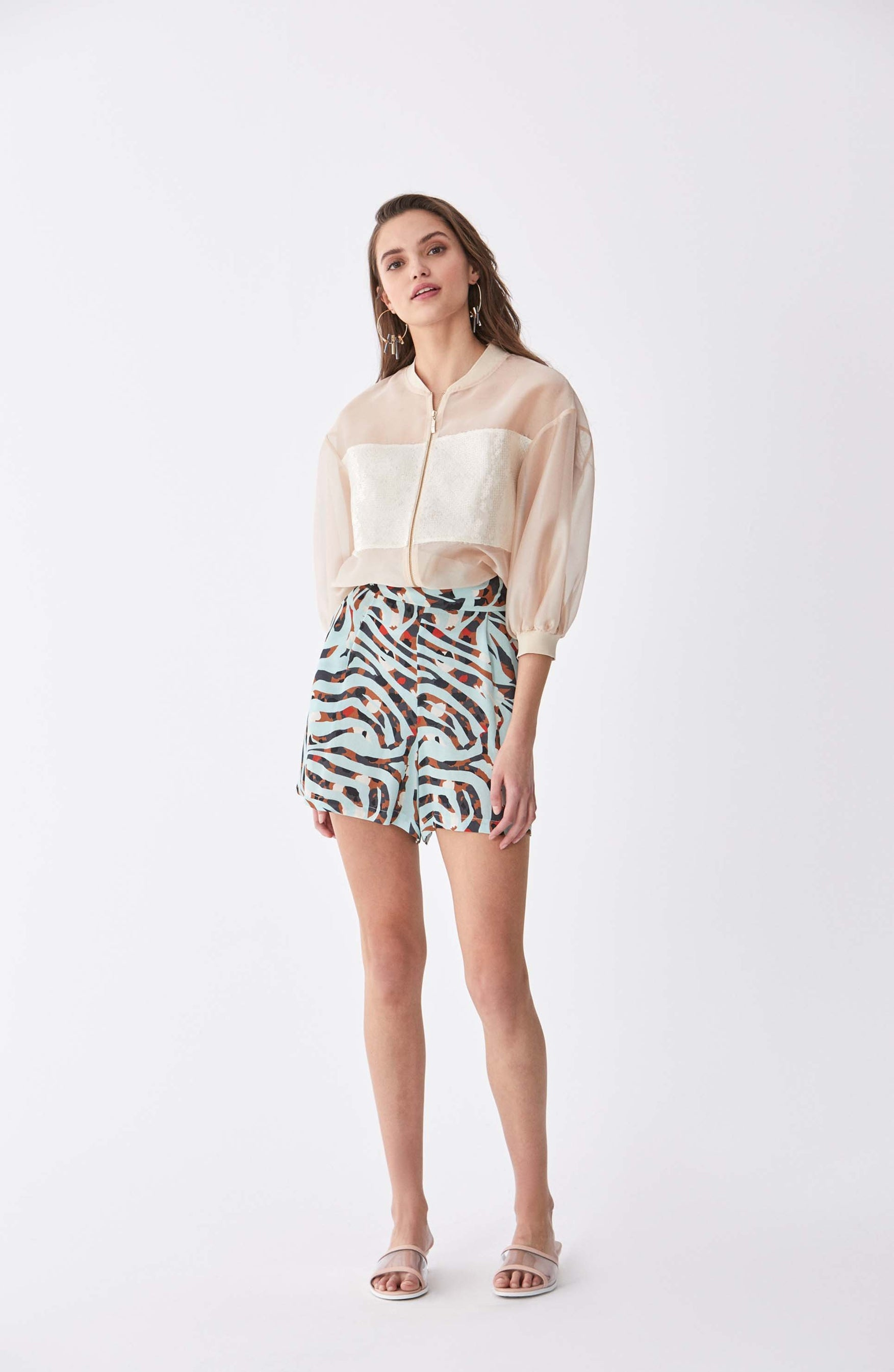 ROMAN USA-Deco Safari Wide Leg Short-- [ORIGINAL]