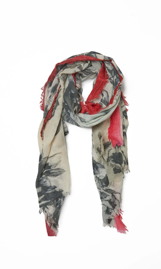 Watercolor Floral Print Scarf