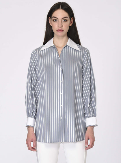 LONG SLEEVE STRIPPED SHIRT