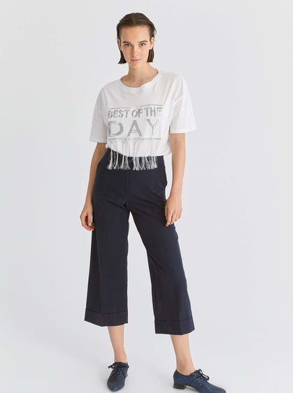 Cropped Flair High-Rise Trouser