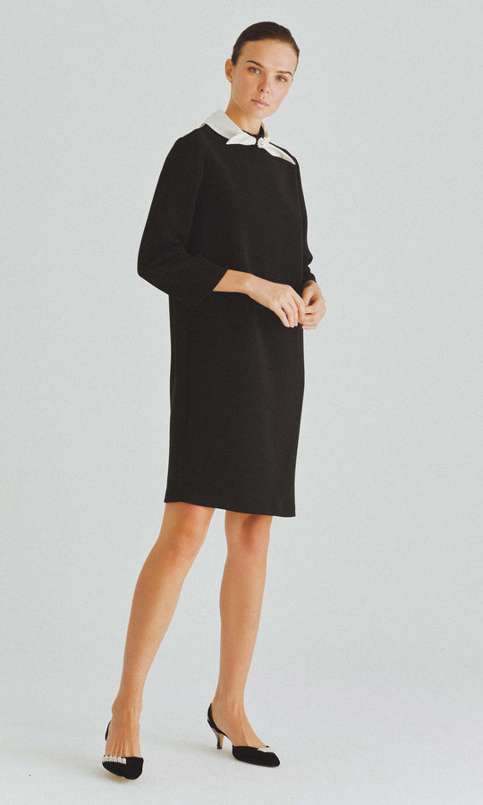 Neck Tie Shift Dress