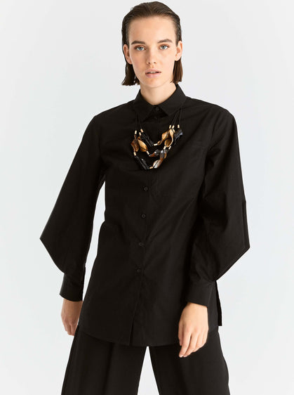 Structured Balloon Sleeve Button Down