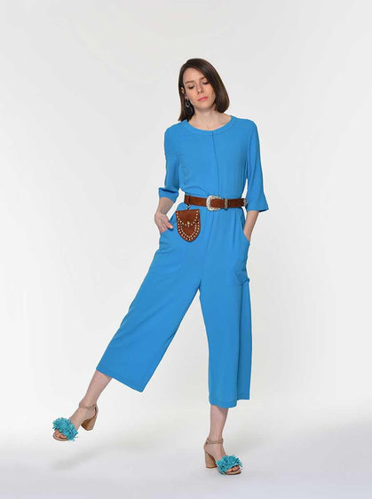 BELT DETAILED JUMPSUIT