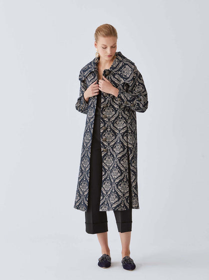 Royal Navy Motif Longline Coat