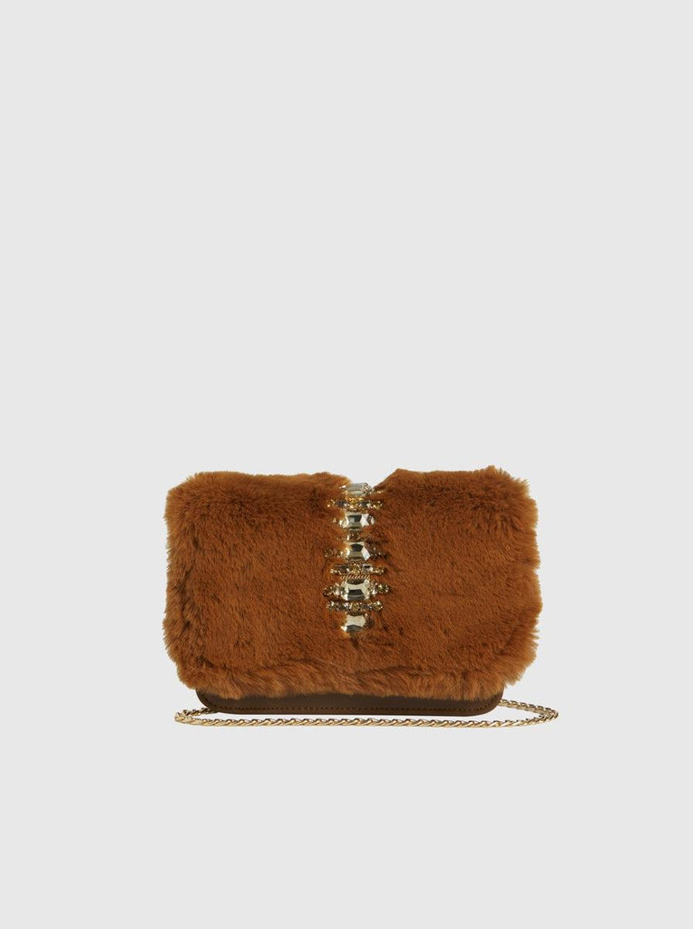 EMBELLISHED FUR BAG