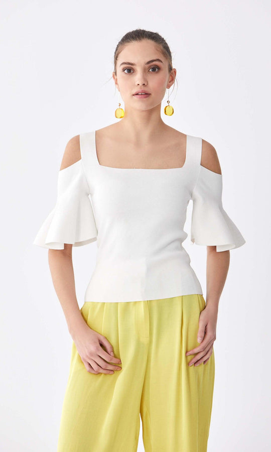 White Cutout Summer Top