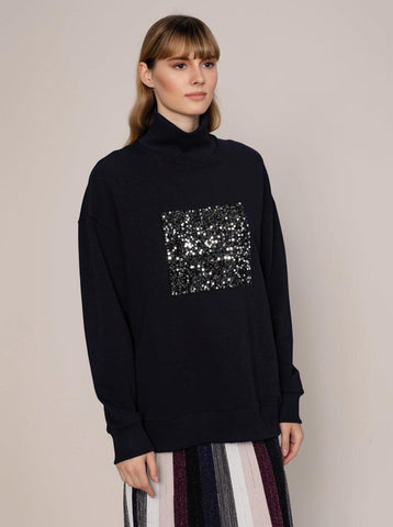 SLEEVE DETAILED SWEATSHIRT