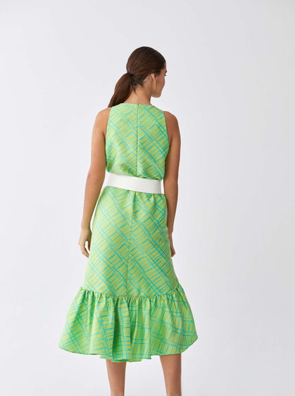 Hi-Low Lime Mermaid Dress