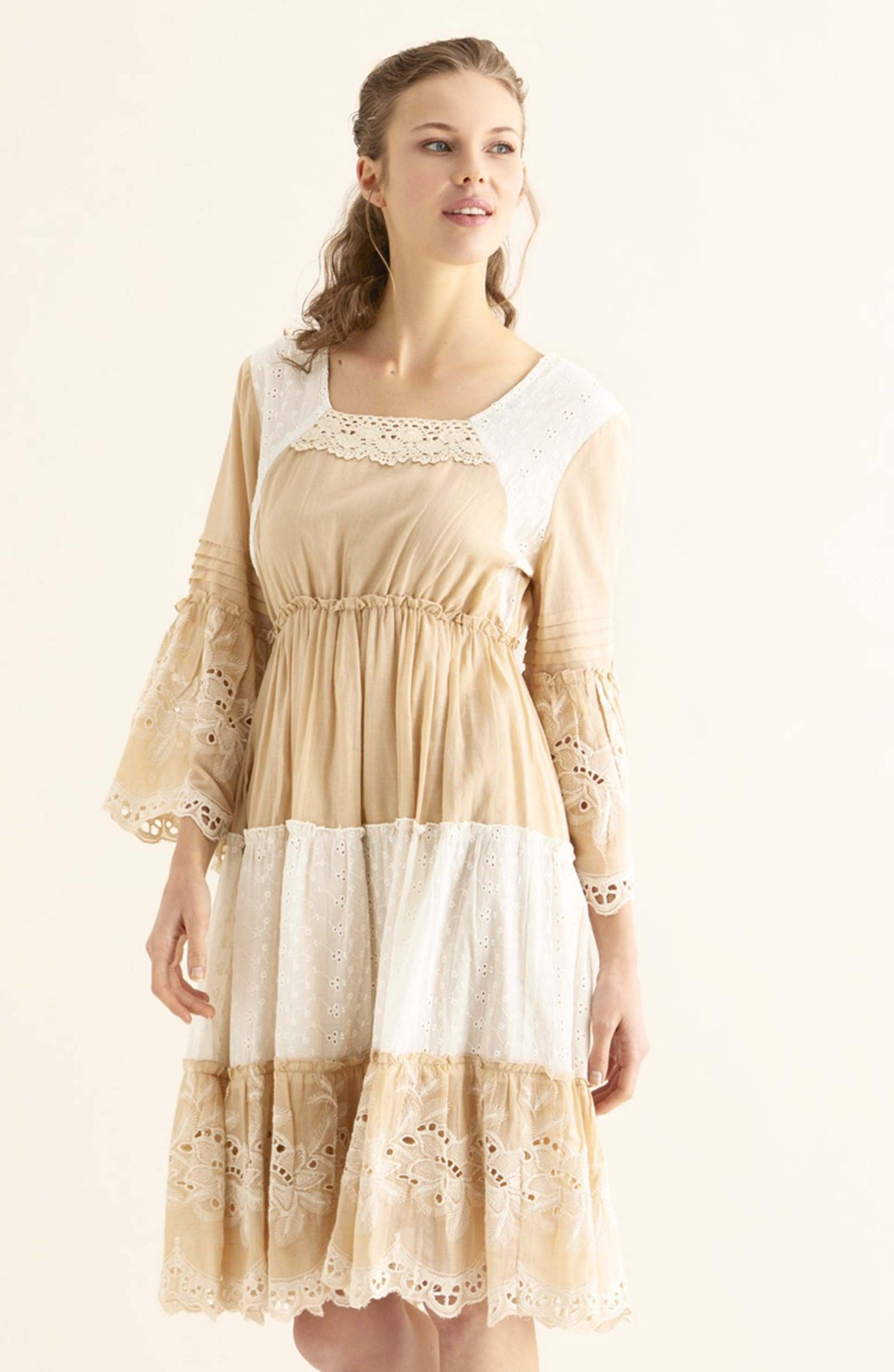 ROMAN USA-Tiered Eyelet Sundress-