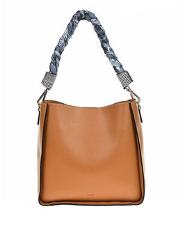 TWIST BRAID STRAP TAN LEATHER BAG