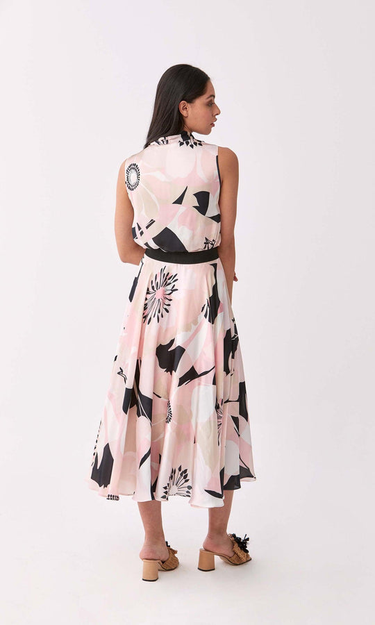 Floral Patterned Midi Skirt