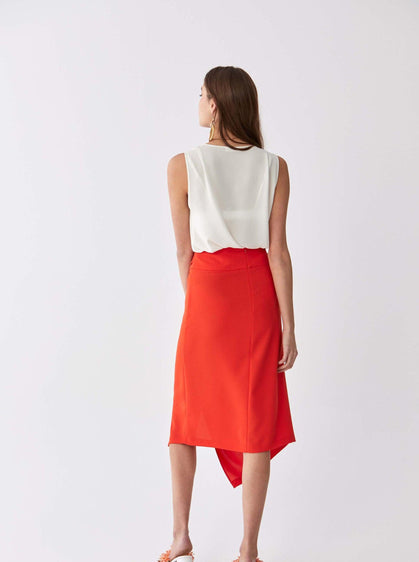 Asymmetric High-Waist Skirt