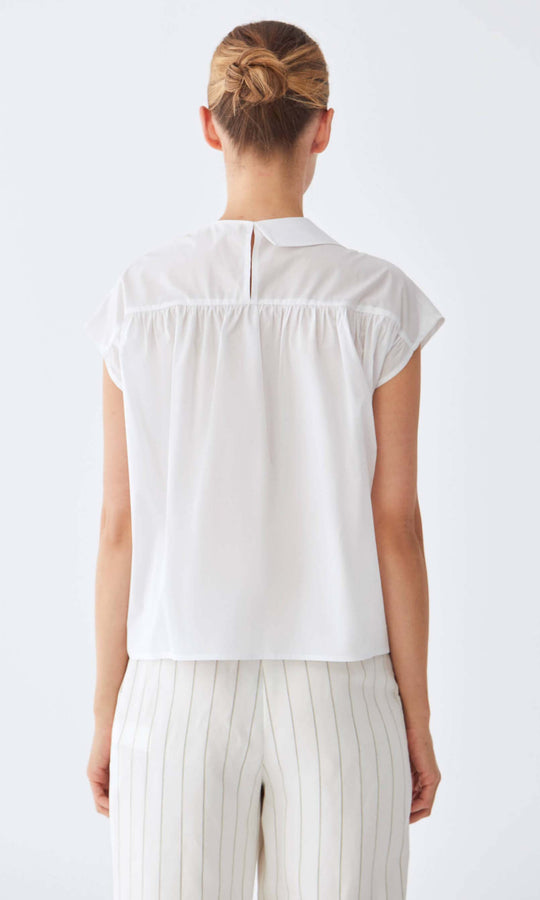 Cotton Cap Sleeve Blouse