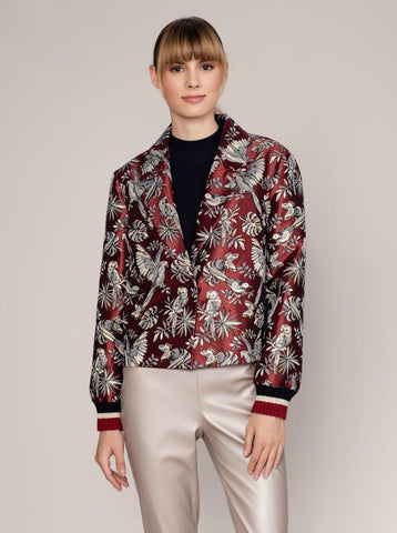 BELT DETAILED GEOMETRIC JACKET
