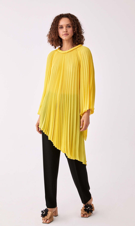 Accordion Pleated Greco Blouse