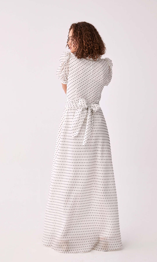 Polka Dot Puff Sleeve Sundress
