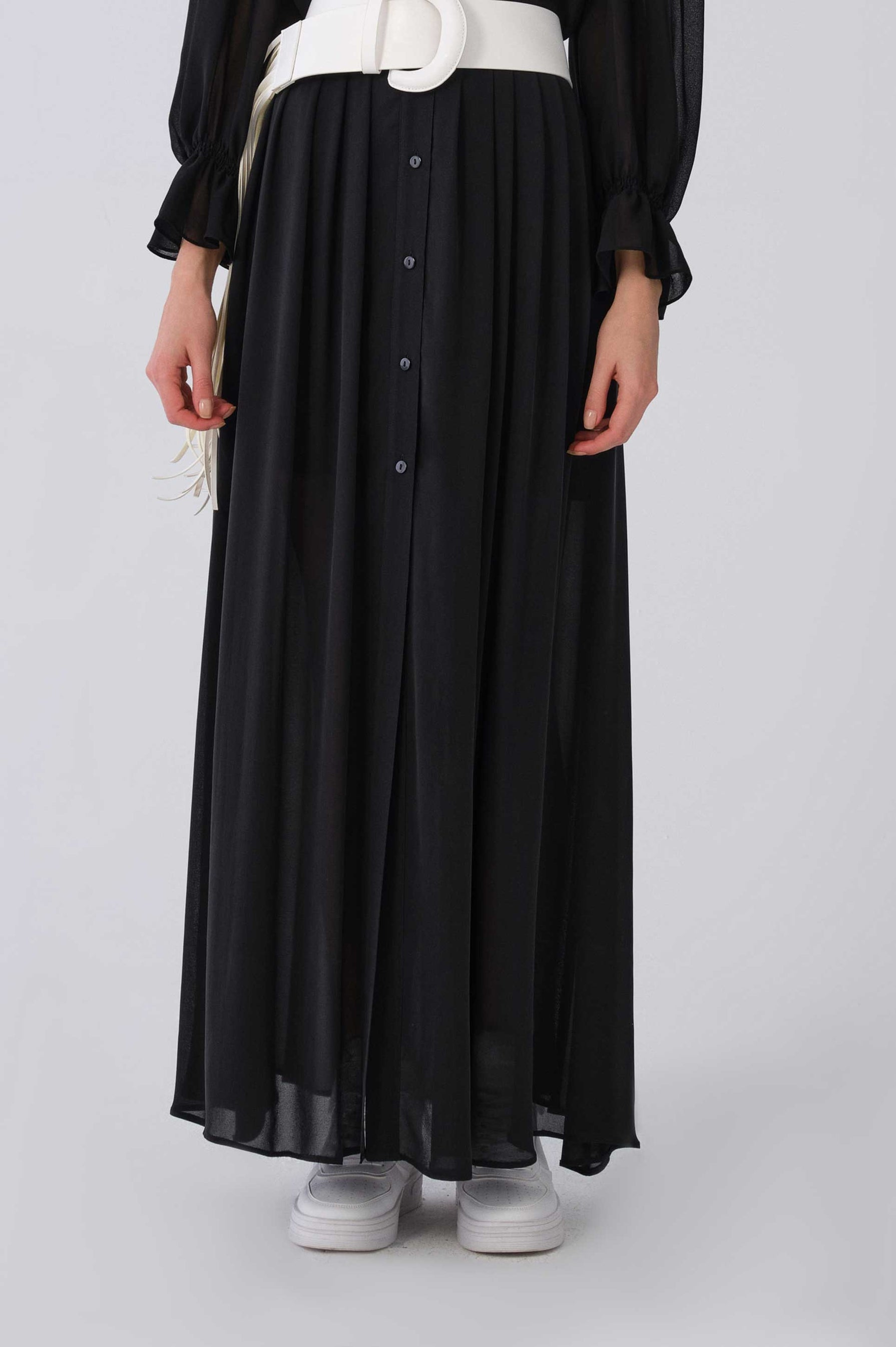 ROMAN USA-Y2115037 SKIRT-- [BLACK]
