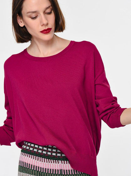 SHORT FRONT LONG BACK KNITWEAR TOP