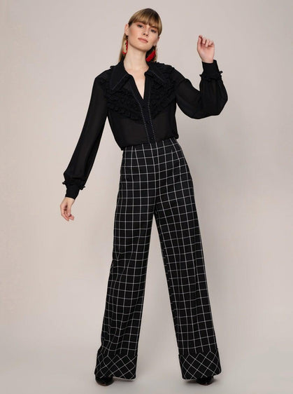 ROMAN USA-Grid Check Power Pant-- [ORIGINAL]