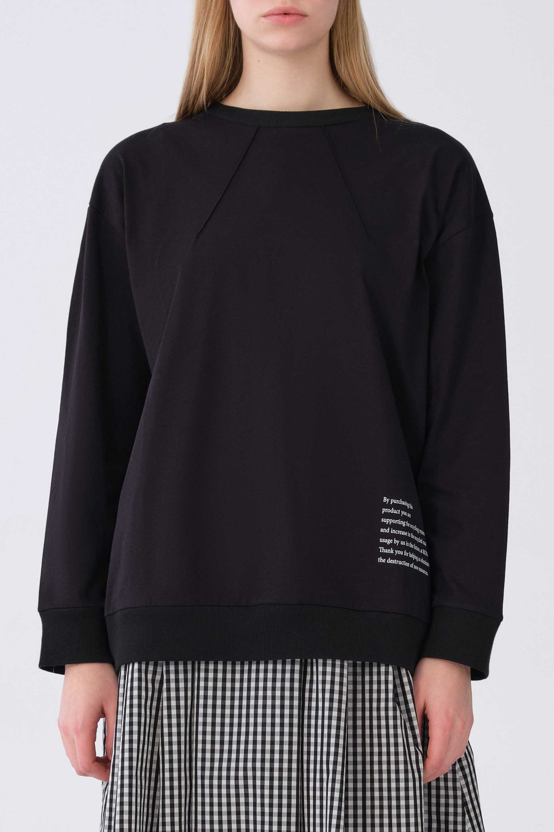 ROMAN USA-Y2154920 SWEATSHIRT-- [BLACK]