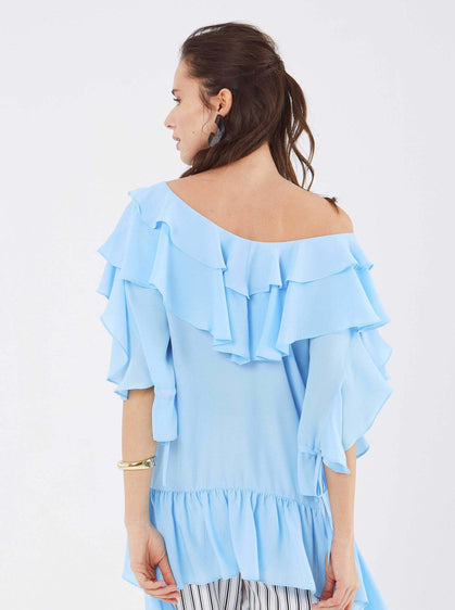 Airy Summer Flounce Top