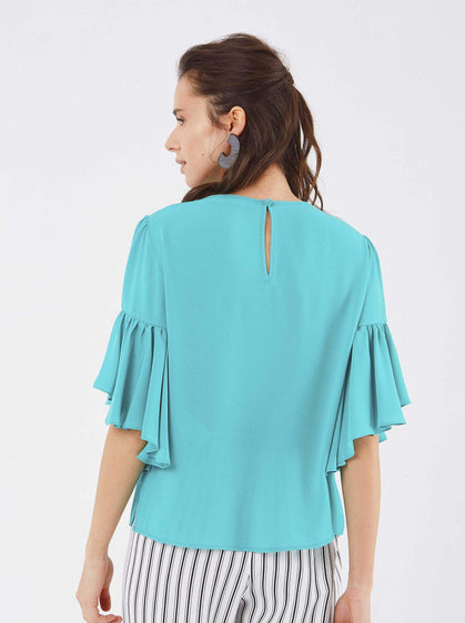 Bell Sleeve Scoop Top