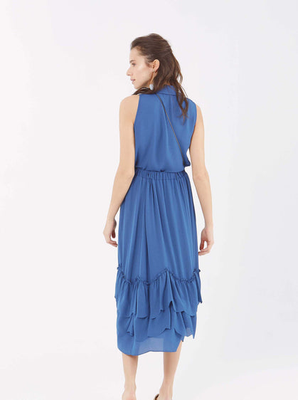 Tiered-Flounce Wave Skirt