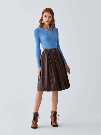 Classic Box Pleat Skirt