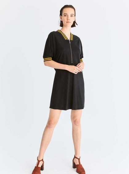 ROMAN USA- [BLACK] Sport Mini Dress-- [BLACK]