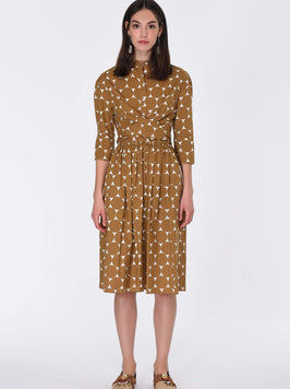 ELASTIC WAIST POLKA DOT DRESS