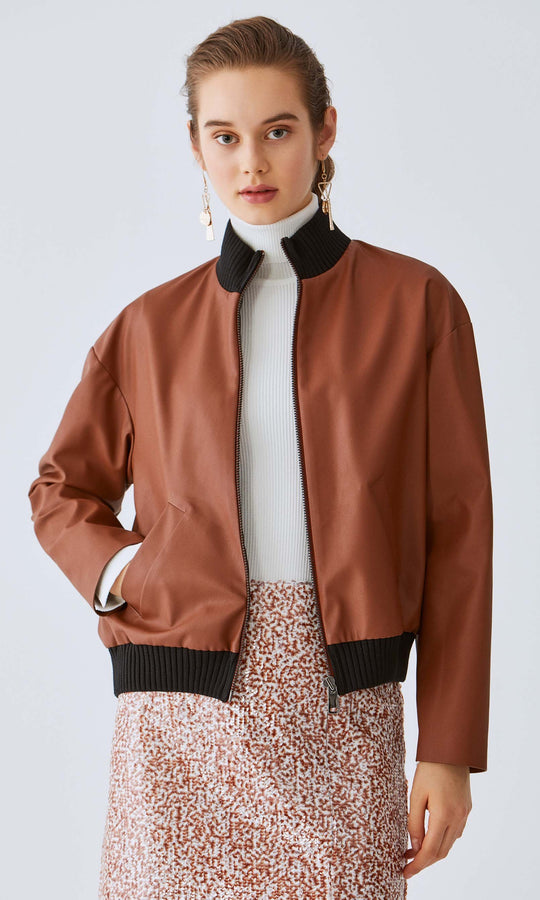 Straight Cuff Bomber Jacket