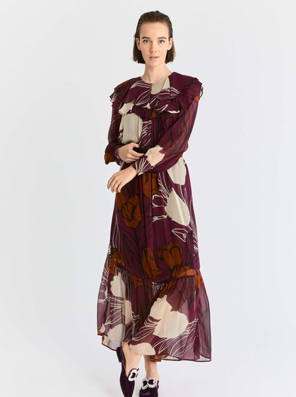 ROMAN USA-Floral Drop Waist Maxi Dress-- [ORIGINAL]