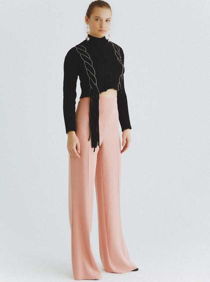 High-Rise Wide Leg Dress Pant