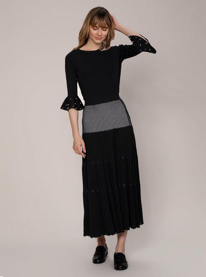 PLEATED KNITWEAR SKIRT